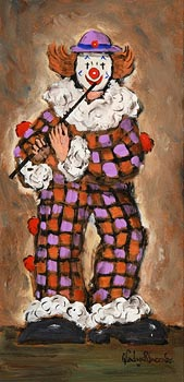 Gladys MacCabe, Clown Playing the Flute at Morgan O'Driscoll Art Auctions