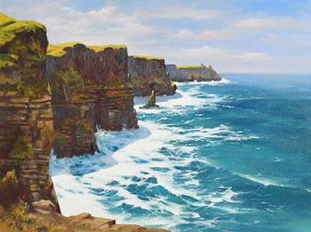 Annemarie Bourke, Cliffs of Moher at Morgan O'Driscoll Art Auctions