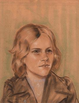 Sean O'Sullivan, Portrait of a Girl at Morgan O'Driscoll Art Auctions