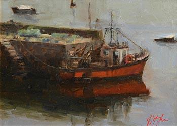 Mat Grogan, Roundstone at Morgan O'Driscoll Art Auctions
