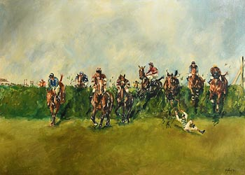 Peter Curling, The Grand National (1971) at Morgan O'Driscoll Art Auctions