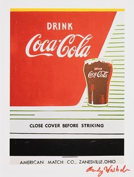 Andy Warhol, Coca Cola (1982) at Morgan O'Driscoll Art Auctions