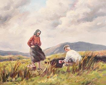 Charles J. McAuley, Taking a Break at Morgan O'Driscoll Art Auctions