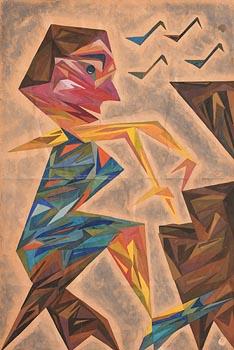 Harry Aaron Kernoff, Bird Man at Morgan O'Driscoll Art Auctions