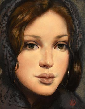 Ken Hamilton, Brown Eyed Girl at Morgan O'Driscoll Art Auctions