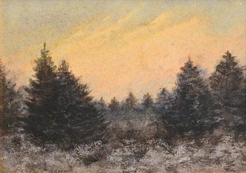 Percy French, Winter Woodland at Morgan O'Driscoll Art Auctions