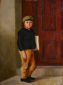 Howard Helmick, Newsboy at Morgan O'Driscoll Art Auctions