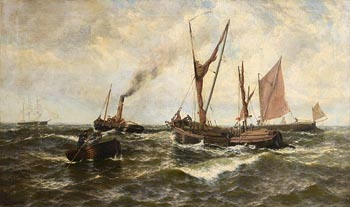 Thomas Rose Miles, Headwind and Ebb Tide off Shearness at Morgan O'Driscoll Art Auctions