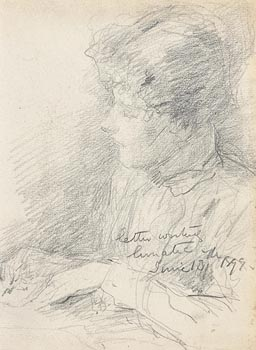 John Butler Yeats, Letter Writing Lunatic, June 13th, 1899 at Morgan O'Driscoll Art Auctions