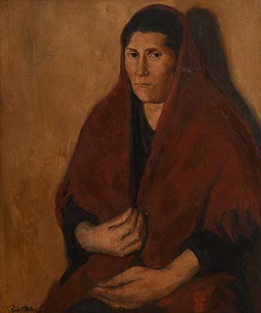 Michael Augustine Power O'Malley, Aran Woman (1912) at Morgan O'Driscoll Art Auctions