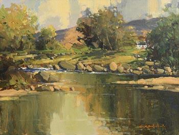 George K. Gillespie, Glendun River, Cushendun, Co Antrim at Morgan O'Driscoll Art Auctions