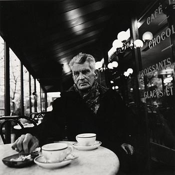 John Minihan, Samuel Beckett Photographed in his Favourite Paris Cafe, December 1985 at Morgan O'Driscoll Art Auctions