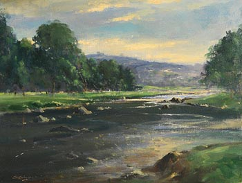 George Gillespie, River Derg near Castlederg at Morgan O'Driscoll Art Auctions