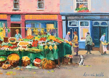 Kenneth Webb, Market Stall, The Liberties at Morgan O'Driscoll Art Auctions