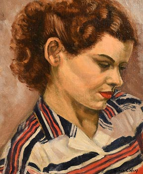 Maurice Canning Wilks, Portrait of a Lady at Morgan O'Driscoll Art Auctions
