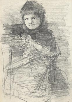 John Butler Yeats, Portrait of a Young Girl at Morgan O'Driscoll Art Auctions