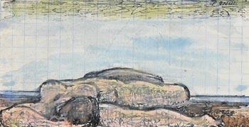 Daniel O'Neill, Reclining Nude at Morgan O'Driscoll Art Auctions
