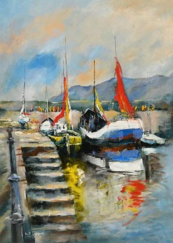 Niall Campion, Howth Harbour, Co. Dublin at Morgan O'Driscoll Art Auctions