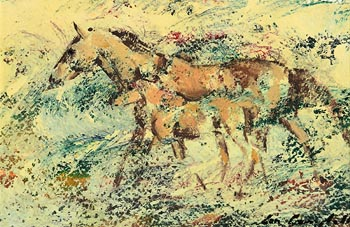 Con Campbell, Mare and Foal at Morgan O'Driscoll Art Auctions