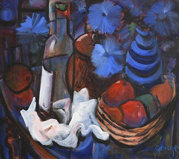 George Dunne, Still Life on Tabletop at Morgan O'Driscoll Art Auctions