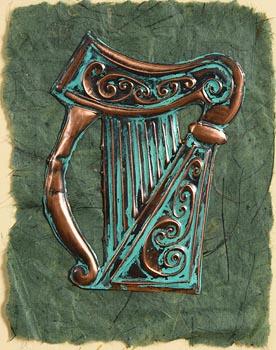 Hugh Clawson, Celtic Harp (2001) at Morgan O'Driscoll Art Auctions