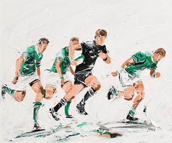 J.P. Neeson, Ireland V's the All Blacks (2018) at Morgan O'Driscoll Art Auctions