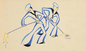 Barbara Warren, The Sailors at Morgan O'Driscoll Art Auctions