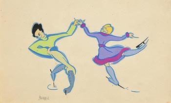 Barbara Warren, The Ice Skaters at Morgan O'Driscoll Art Auctions