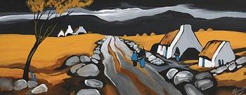 J.P. Rooney, Roadside Chat at Morgan O'Driscoll Art Auctions