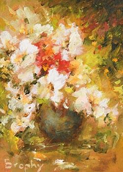 Elizabeth Brophy, Still Life - Vase of Flowers at Morgan O'Driscoll Art Auctions