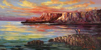 William Cunningham, Sunrise, Giant's Causeway at Morgan O'Driscoll Art Auctions