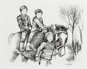 Ann Fitzgerald, Three Pals at Morgan O'Driscoll Art Auctions