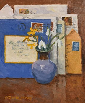 Desmond Hickey, Flowers at Christmas at Morgan O'Driscoll Art Auctions