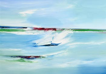 Majella O'Neill Collins, Wild Water Dock, Sherkin Island at Morgan O'Driscoll Art Auctions