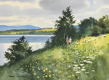 John Skelton, Blessington Lakes, Summer (1987) at Morgan O'Driscoll Art Auctions