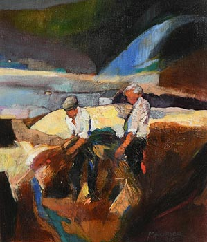 Maurice Henderson, Farmers, Allihies (1990) at Morgan O'Driscoll Art Auctions