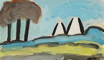 Markey Robinson, Cottages on a Landscape at Morgan O'Driscoll Art Auctions