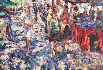 Arthur K. Maderson, The Village Market at Morgan O'Driscoll Art Auctions