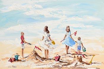 Lorna Millar, Playing on the Beach at Morgan O'Driscoll Art Auctions