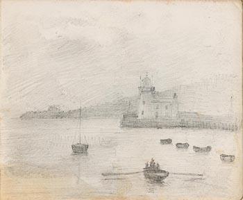 John Butler Yeats, Harbour Scene at Morgan O'Driscoll Art Auctions