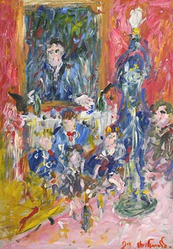 Marie Carroll, Drinks in the Shelbourne (1999) at Morgan O'Driscoll Art Auctions
