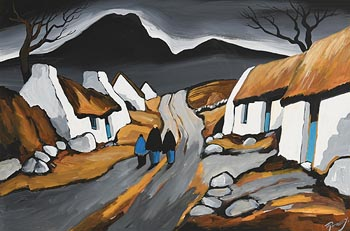 J.P. Rooney, Returning Home by the Dark Hills at Morgan O'Driscoll Art Auctions