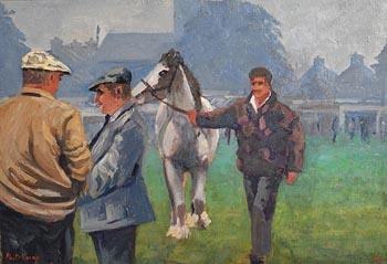 Alex McKenna, Ballinasloe Horse Fair, Misty Morning II (1998) at Morgan O'Driscoll Art Auctions