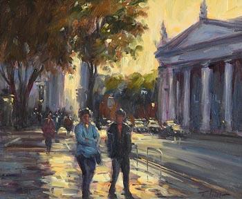 Norman Teeling, College Green, Dublin at Morgan O'Driscoll Art Auctions
