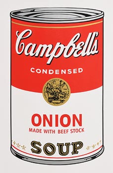 after Andy Warhol, Campbell's Soup Can 11.47 at Morgan O'Driscoll Art Auctions