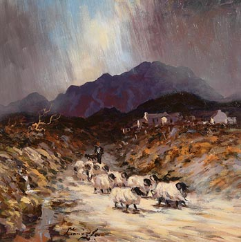 William Cunningham, The Connemara Shepherd at Morgan O'Driscoll Art Auctions