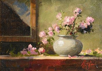 Mat Grogan, Still Life with Flowers at Morgan O'Driscoll Art Auctions