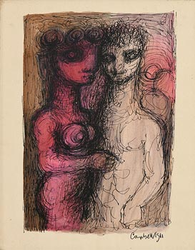 George Campbell, The Embrace (1961) at Morgan O'Driscoll Art Auctions
