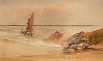 William Bingham, Off the Donegal Coast at Morgan O'Driscoll Art Auctions