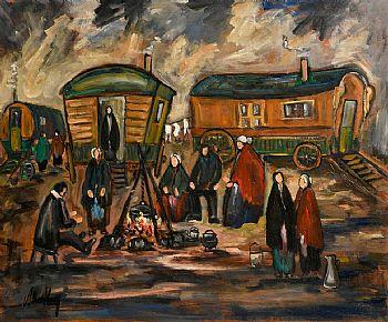 Markey Robinson, Gypsy Camp at Morgan O'Driscoll Art Auctions
